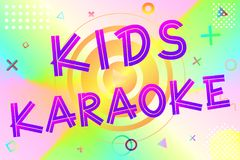 Kids karaoke text royalty free illustration