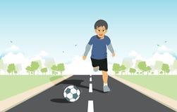 Kids kick. Stock Image