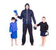Kids Kickboxing Fight Stock Photos