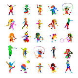 Kids kids kids. Collection of against white background Royalty Free Stock Photography