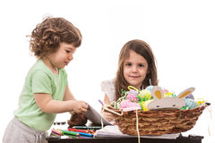 Kids at kindergarten Royalty Free Stock Images