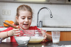 Kids in the kitchen Stock Photography