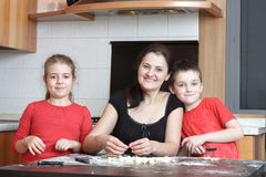 Kids in the kitchen stock image