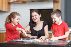 Kids in the kitchen royalty free stock images