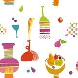 Kids kitchen pattern Wallpaper Royalty Free Stock Image