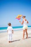 Kids with kite Stock Photo