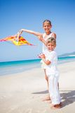 Kids with kite Royalty Free Stock Image
