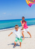 Kids with kite Stock Photography
