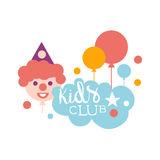 Kids Land Playground And Entertainment Club Colorful Promo Sign With Clown For The Playing Space For Children Stock Photos