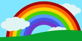 Kids rainbow Landscape Vector Stock Illustration