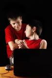 Kids at laptop Royalty Free Stock Image
