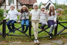 Kids laughing Stock Image