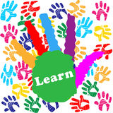 Kids Learn Shows Youngster Creativity And Youngsters. Kids Learn Meaning University Painted And Human Royalty Free Stock Photos