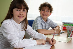 Kids learning Stock Photo