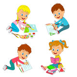 Kids learning activity Royalty Free Stock Image
