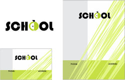 Kids Learning Center School Education Logo, Business Card  2 x 3.5, Flyer 4.25 x 5.5 Royalty Free Stock Photo