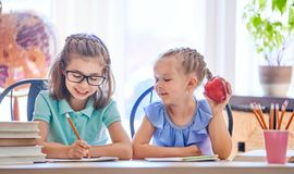 Kids are learning in class. Stock Photos