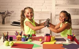 Kids learning and playing royalty free stock image