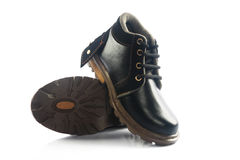 Kids Leather boots Stock Image