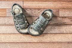Free Kids Leather Sandals Stock Image - 37014401