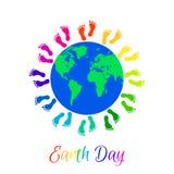 Kids legs around planet Earth Royalty Free Stock Photo