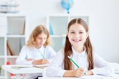 Kids at lesson royalty free stock photography