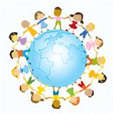 Kids- Let S All Be Friends Royalty Free Stock Photography