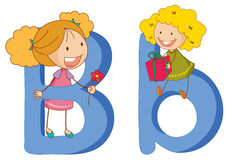 Kids in the letters series Royalty Free Stock Photography