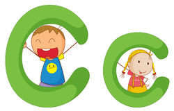 Kids in the letters series Royalty Free Stock Images