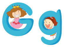 Kids in the letters series Stock Images
