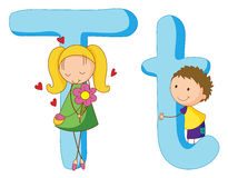 Kids in the letters series Stock Photography