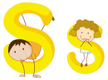 Kids in the letters series Royalty Free Stock Photos