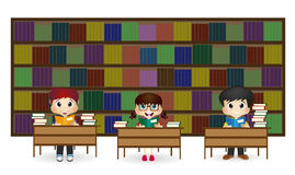 Kids at Library royalty free illustration