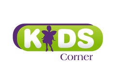 Kids Logo Design Stock Photography