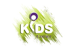 Kids Logo Design Stock Photo