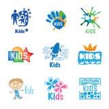 Kids logo set Stock Photography