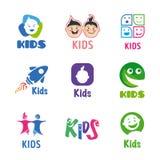 Kids logo set Stock Photo