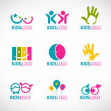 Kids logo vector set design Stock Photography