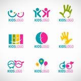 Kids logo vector set design Stock Photography