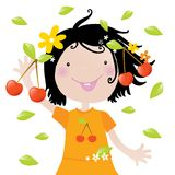 Kids love it- cherries Royalty Free Stock Photo