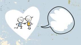 Kids love friendship vector illustration
