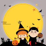 Kids love on Halloween B Royalty Free Stock Photo