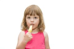 Kids love ice cream Stock Photography
