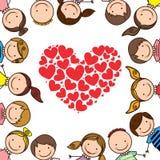 Kids love. Over white background  illustration Stock Image