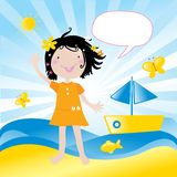 Kids love it- the sea Royalty Free Stock Images