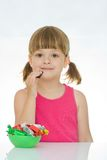Kids love sweets Stock Images