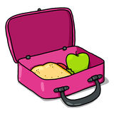 Lunch Box Illustration; Kids Lunchbox  Royalty Free Stock Photography