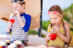 Kids at luxury resort Stock Photo