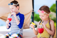 Kids at luxury resort Royalty Free Stock Photos