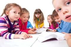 Kids make Homework Royalty Free Stock Photo